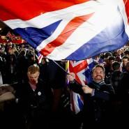 Parliament Square: Vor dem Westminster Palace in London feierten viele Briten den Austritt aus der EU