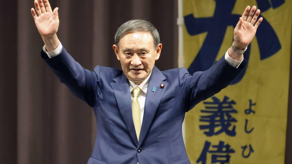 Yoshihide Suga, Regierungssprecher Japans und designierter Ministerpräsident