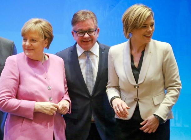 Merkel, Wolf und Klöckner Anfang Januar auf der CDU-Klausurtagung in Mainz
