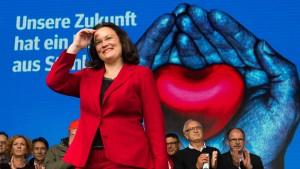 Andrea Nahles soll Fraktionschefin werden