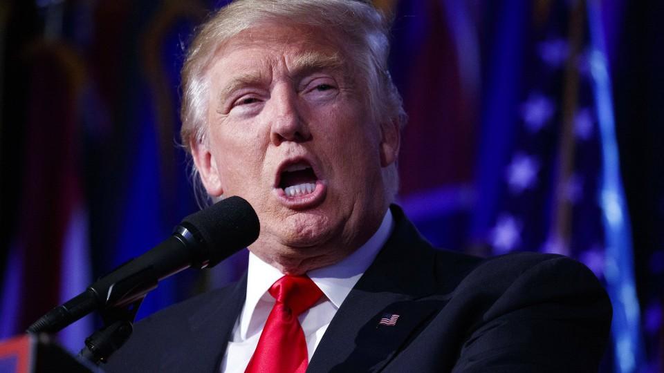 Donald Trump während seiner Siegesansprache am 9. November 2016 in New York