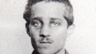 Ein undatiertes Bild von Gavrilo Princip aus dem Historischen Archiv in Sarajevo