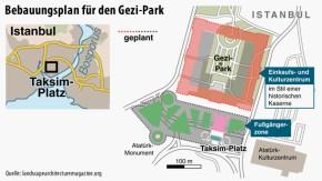 Karte / Türkei / Bebauungsplan für den Gezi-Park