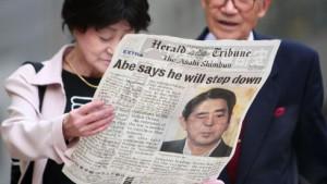 Abe nach Rücktritt im Krankenhaus