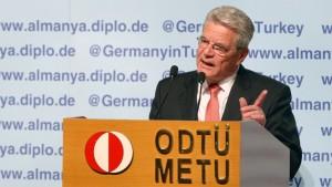 Gauck rechnet mit Erdogan ab