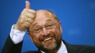 Mai 2014: Martin Schulz auf der Berliner SPD-Party zur Europawahl