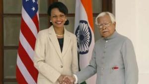 Viel offizielle Freundlichkeit für Frau Rice in Delhi