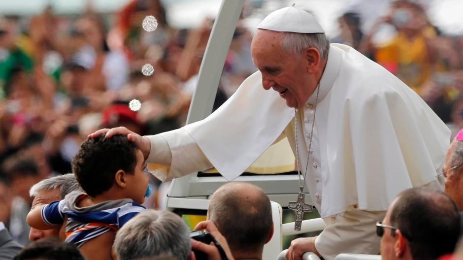 Papst Franziskus beim Weltjugendtag am 28. Juli in Rio