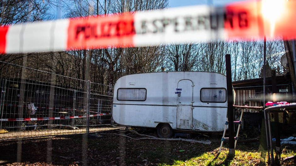 Ort des Grauens: Der Campingwagen eines Kinderschänders in Lügde