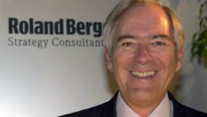 Roland Berger als Stoibers Wirtschaftsminister im Gespräch