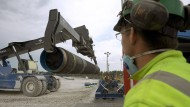 Am Ende angekommen? Die Bauarbeiten an der Ostseepipeline auf Gotland (Foto) könnten bald eingestellt werden