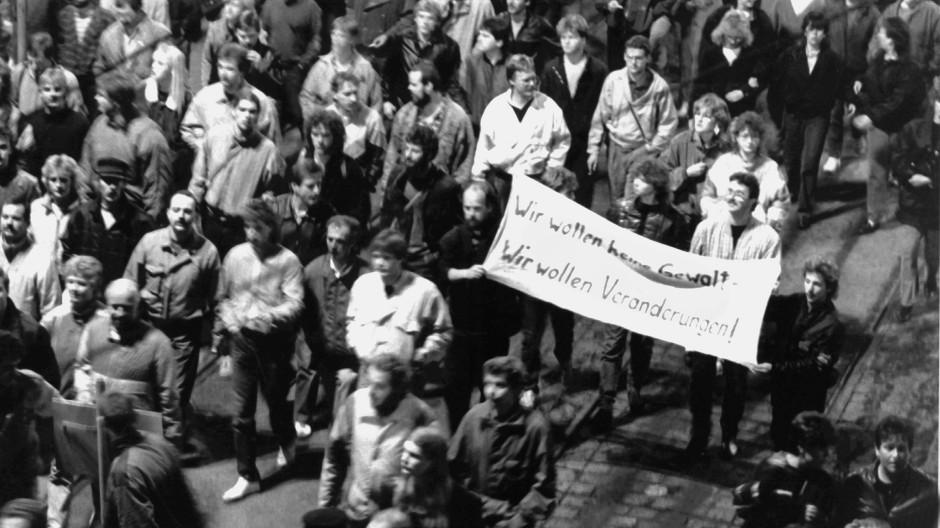 9. Oktober 1989: Demonstration in Leipzig