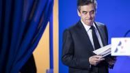 Schwer angeschlagen: Kandidat François Fillon