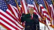 Donald Trump bei der Ankunft auf der Demonstration in Washington am Mittwoch