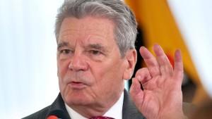 Gauck warnt vor Alarmismus in Europa