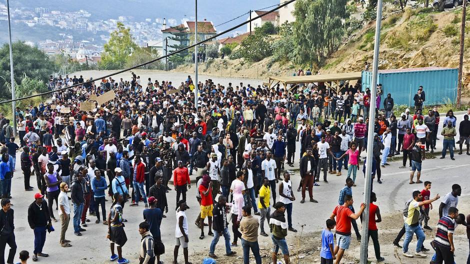 Prekäre Verhältnisse: Flüchtlingsproteste auf Samos im Oktober