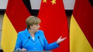 Merkel auf Mission Balanceakt