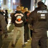 Januar 2016: Polizisten beobachten ein Treffen der Osmanen Germania in Neuss.