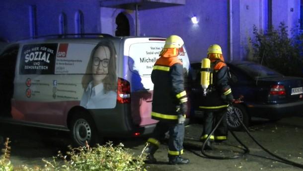 Staatsschutz ermittelt wegen Anschlags auf SPD-Autos