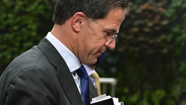 Krisenmanager Rutte gerät in die Defensive