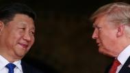 Xi Jingping vergangene Woche zu Gast bei Donald Trump in Palm Beach (Florida)