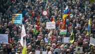 Proteste in Dresden: Die AfD verzeichnet überall in Deutschland stabile Zustimmung.
