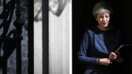 Premierministerin Theresa May tritt vor die Presse, um den Neuwahltermin zu verkünden.