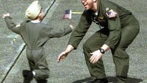 Amerikanische Soldaten wieder zurück in ihrer Heimat