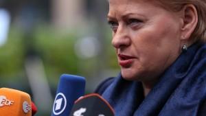 Auch Litauens Präsidentin fährt nicht nach Sotschi