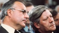 Politische Wahlkampfgegner 1976: Helmut Kohl und Helmut Schmidt