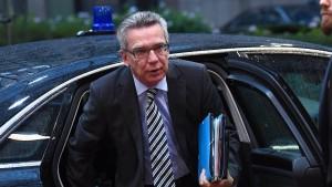 De Maizière dringt auf wirksamen Schutz der EU-Außengrenze