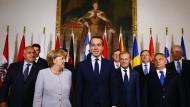 Flüchtlingsgipfel in Wien mit Kanzlerin und Kanzler: Angela Merkel und Gastgeber Christian Kern.