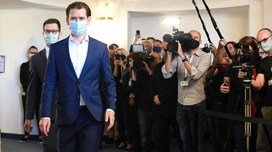 Bundeskanzler Sebastian Kurz erscheint zum Ibiza-Untersuchungsausschuss.