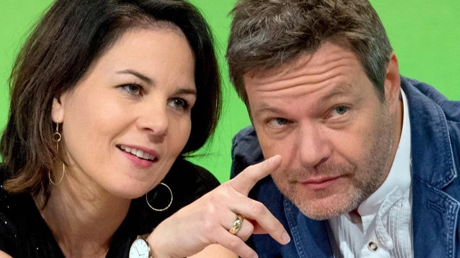 Die Vorsitzenden der Partei Bündnis 90/Die Grünen, Annalena Baerbock und Robert Habeck, im November 2018.