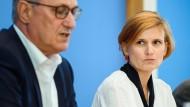 Linken-Vorsitzende Bernd Riexinger und Katja Kipping
