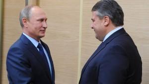 Deutsche Politiker buhlen um Putins Gunst