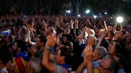 Beifall auf den Straßen Barcelonas