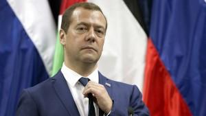 Russischer Regierungschef Medwedjew kommt zu Kohl-Trauerakt