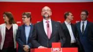 War´s das im Finalspiel gegen Merkel?: SPD-Kanzlerkandidat Schulz nach dem 0:3 gegen die CDU.