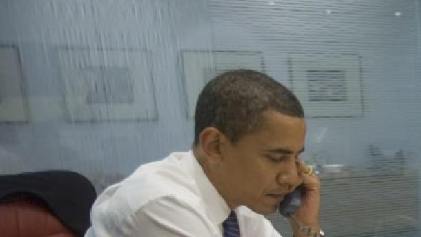 Obama telefoniert mit der Welt