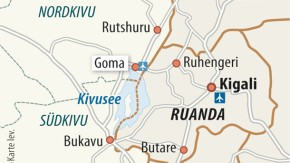 Karte / Kongo / Goma