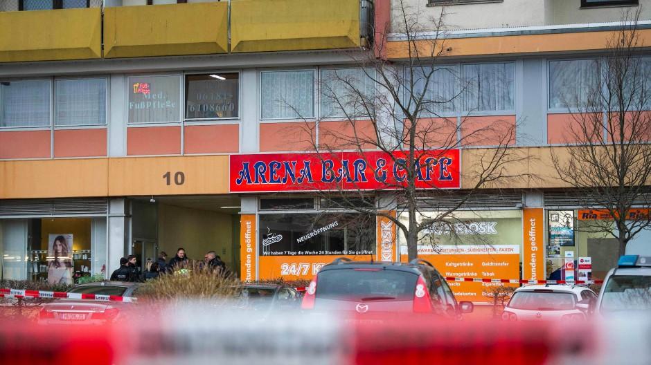 Tatort: Unter anderem in dieser Bar in Hanau schoss der Mörder um sich