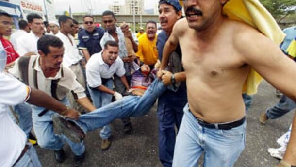 Tote und  Verletzte in Venezuela