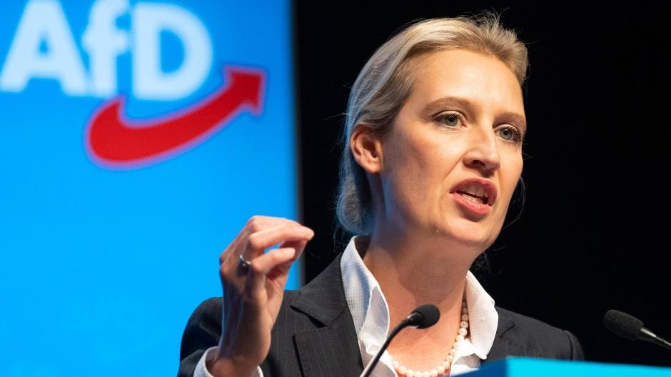 Die mächtigste Frau der AfD: Alice Weidel auf dem Parteitag in Baden-Württemberg.