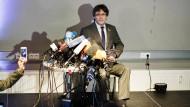 Heimspiel fern der Heimat: Der ehemalige katalanische Regionalpräsident Puigdemont in Berlin