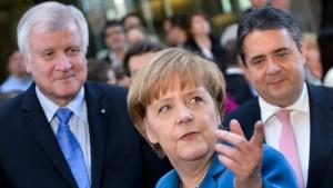 Merkel, Seehofer und Gabriel befinden Montag über EU-Personal