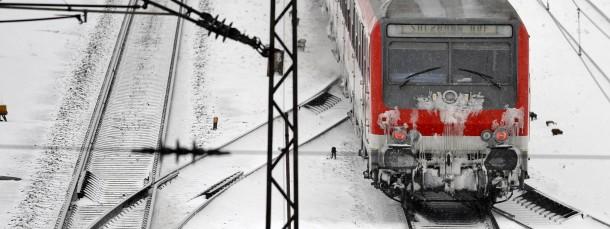 Schnee bedeutet für die Bahn in erster Linie Mehrarbeit