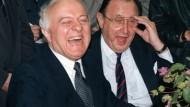 Vertrautes Verhältnis: Genscher und Schewardnadse im November 1990 in Halle