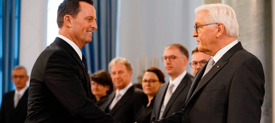 Der amerikanische Botschafer Richard Grenell am 14. Januar 2019 bei Bundespräsident Frank-Walter Steinmeier