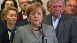 Merkel wird mit Steinmeier über Optionen sprechen
